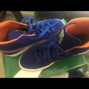 Puma Blue and Orange Suede Hightops worn once